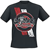 Gas Monkey Garage Dartboard with Tyre Stripes T-Shirt Schwarz 3XL