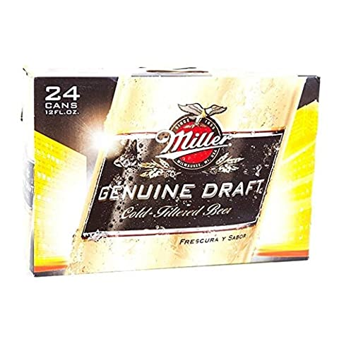 US beer - 14 varieties - 24 cans / bottles - Anheuser-Bush Bud Light Lime Coors Michelob Ultra Miller Genuine Draft High Life Milwaukee Best Pabst Blue Ribbon lager (Miller Genuine Draft, 24x 355ml)