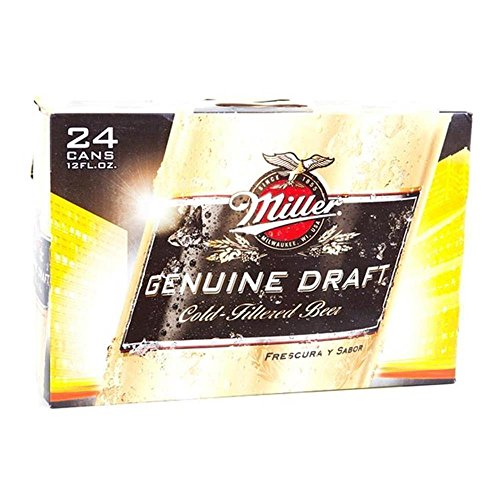 US Bier - 14 Sorten - 24 Dosen/Flaschen - Anheuser-Bush Bud Light Lime Coors Michelob Ultra Miller Genuine Draft High LifeMilwaukee Best Pabst Blue Ribbon lager (Miller Genuine Draft, 24x 355ml)
