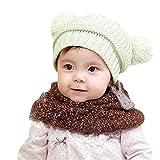 ODJOY-FAN-bambino inverno Tenere caldo Doppia palla Cappello lavorato a  maglia-Sciarpa acd89c819811