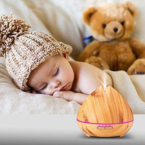 #Liqoo® Aroma Diffuser Luftbefeuchter 400ml Duftzerstäuber Oil Düfte mit 7 Farben LED Licht für Schlafzimmer Wohnzimmer Büro#
