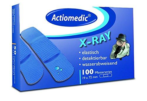 Actiomedic® DETECT Pflasterstrips X-Ray wasserabweisend Blau 19 x 72 mm