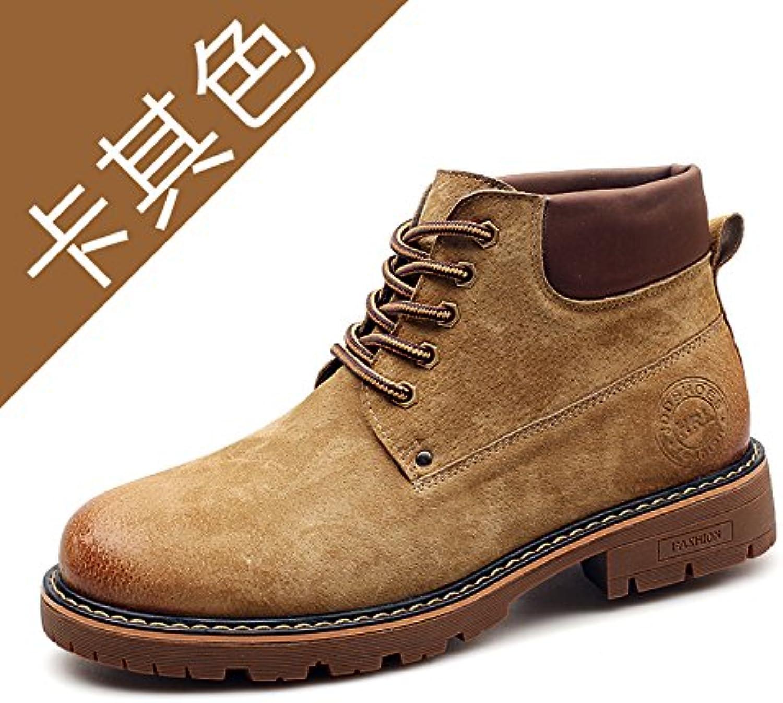 HL PYL   Neue Männliche startet von der koreanischen Version Hilfe von Martin Stiefel Rhabarber Stiefel  41  Khaki