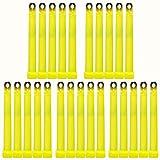Luci chimiche ultra potenti di emergenza, 25 pezzi, colore: giallo, fino a 45 min., luminosità molto intensa, compreso accessori, 150 x 15 mm