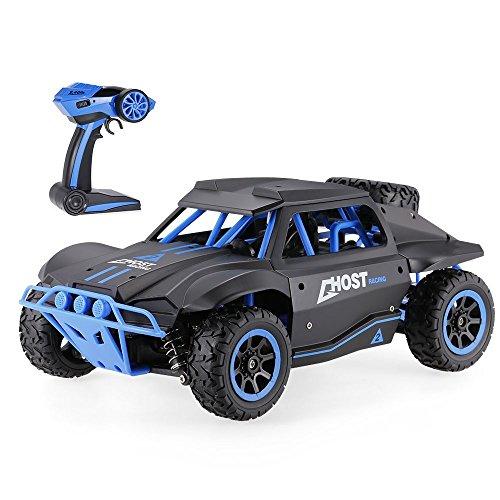 tes Auto / Rennfahrzeug mit Höchstgeschwindigkeit 25 km/h, 2,4GHz Fernbedienung, Truck-Maßstab 1/18, 4WD, Off-Road, Monster-Truck, schnell (4x4 Rc Truck 1 5)