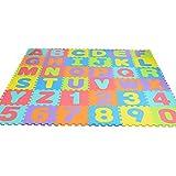 Neue EVA Kinder-PuzzleMatte, 36 stücke digitale brief Muster Umweltschutz Rutschfestem pädagogisches Kinder-Spielmatte, für Baby - Yves25Tate