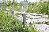 XIAOJIA Passaggio pedonale mini solare paesaggio luci percorso giardino terra cantiere vialetto prato esterno impermeabile 5PCS argenteo e nero , silvery