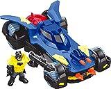 Imaginext Batman, Batmobile Deluxe, Coche de Batman de Juguete (Mattel...