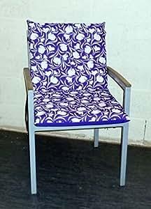Zippy Low Back Sessel Sitzkissen-wasserdicht-Purple Tulip wasserabweisend, wendbar