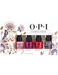 OPI Spring Iconic Flower Power Mini trousse de 3 Vernis à Ongles + Top Coat 4 x 3,75 ml