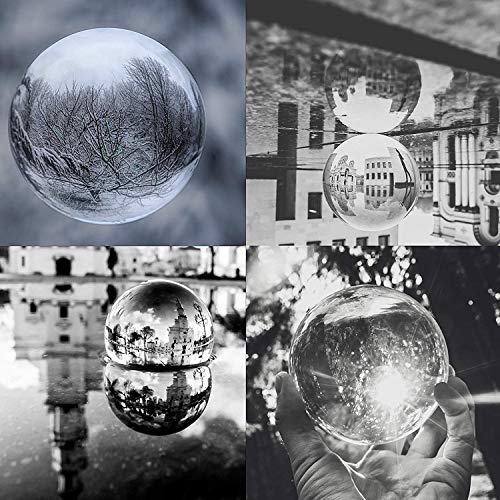 Tensphy K9 Palla di Cristallo con Supporto Pollici Decorazioni artistiche Chiare K9 Prop di Cristallo per Fotografia Decorazione