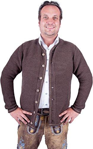 Almwerk Herren Trachten Strick Jacke Modell Xaver, Farbe:Braun;Größe:60
