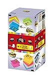 3M R33016 Post-it Z-Notes, 16 Blöcke, 100 Blatt, 76 x 76 mm, neongelb/grün/pink/orange/pastellgrün/ultrablau/retroblau/hellblau/goldgelb/kürbisgelb