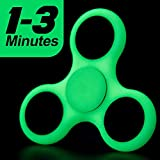 #9: Wobbox Fidget Spinner With Lowest Sound Light Glow In The Dark - Luminous Fluorescent