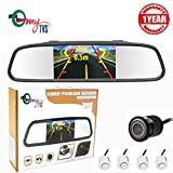 #8: myTVS TVS-52 Video Reverse Parking Screen, Sensor and Camera with Distance Reading Voice - White