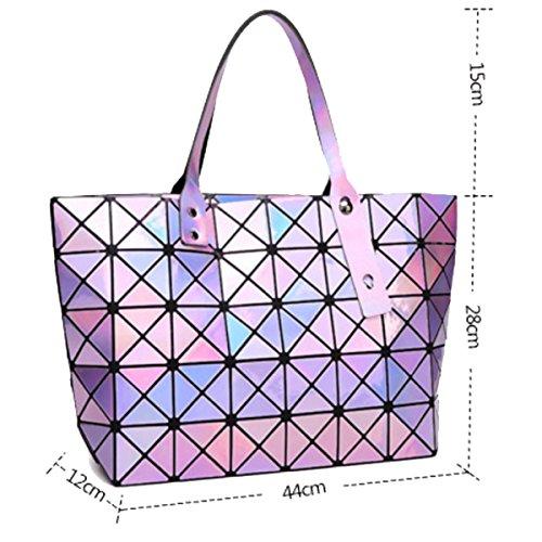 Falten Tasche Diamant Geometrische Umhängetasche Damen Handtasche Purple qzVLSMpGjU