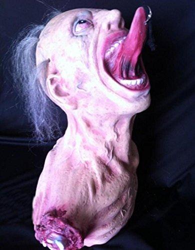 Leatherface Erwachsene Scary Kostüme (JJH-ENTER Maske Halloween Spukhaus Kammer des Schreckens Handgefertigt Terror Vampir Zombie Emulsion)