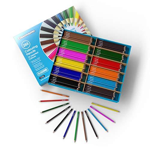 Klassenbox mit 288 Buntstiften, verschiedene Farben (Buntstifte In Bulk)
