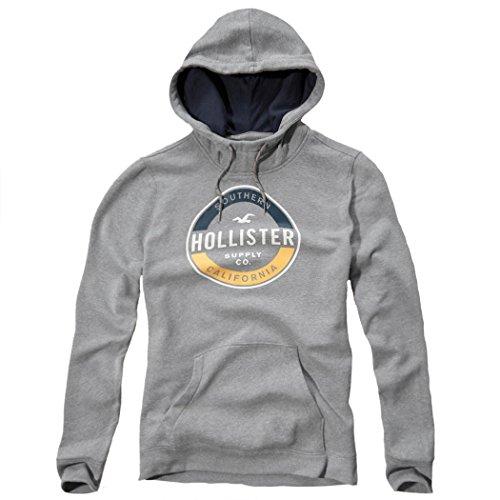 Hollister -  Felpa con cappuccio  - Maniche lunghe  - Uomo Grey Medium