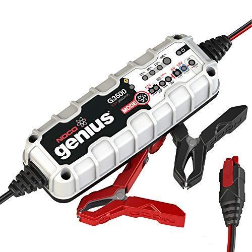 NOCO Genius G3500EU 6V / 12V 3.5 Amp UltraSafe Smart Cargador y Mantenedor de Batería, Negro, Gris, Rojo