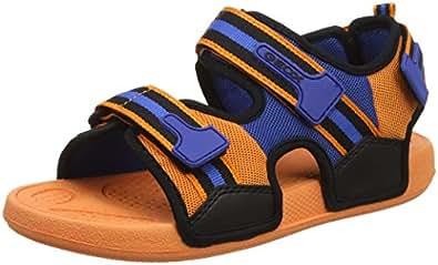 Geox J Ultrak A, Sandali Punta Aperta Bambino, Arancione (Orange/Black), 25 EU