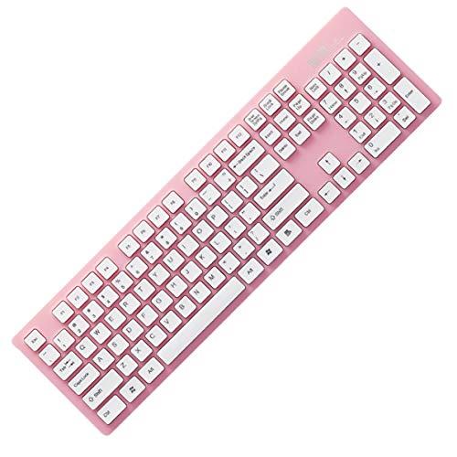 K3 ergonomisches Design drahtlose Tastatur leichte 2,4 GHz super leise Tastatur für Laptop PC Office Supplies, pink, -