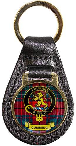 I Luv LTD Leder Schlüsselanhänger Scottish Clan Crest Cumming Scottish gemacht