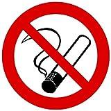 8 cm - rund Kontur geschnitten - Autoaufkleber Rauchen verboten No Smoking Sticker Aufkleber fürs Auto Taxi Bus Restaurant