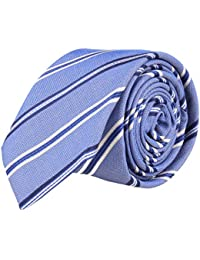 OTTO KERN Schmale Krawatte Clubkrawatte Blau Gestreift