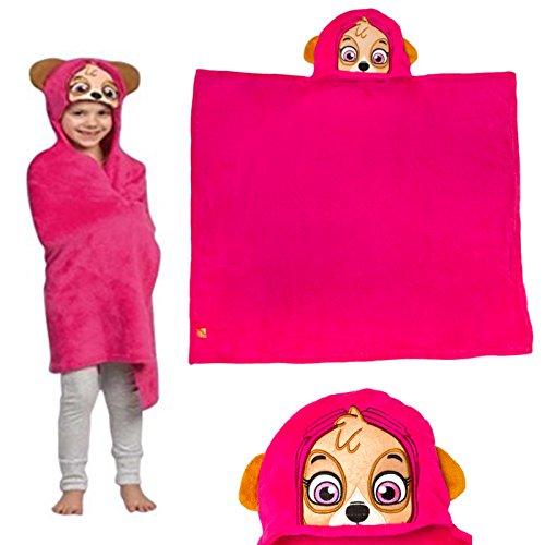 Paw Patrol Skye Pink Kinder Kapuzen Kuscheln Decke Robe