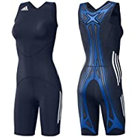 adidas Adipower WR Powerweb Suit Wrestling anillos Ringer Traje Mujer Singlet Azul, color azul, tamaño 34