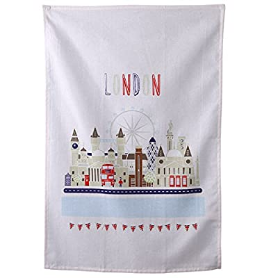 Funky London Icons Design Cotton Tea Towel