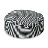 Kochmütze, rund, schwarz & weiß, Gingham-Karo-Muster INS13G Gr. Small, schwarz / weiß