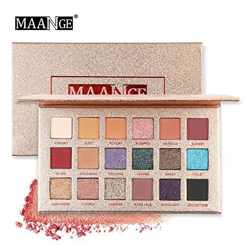 Gaddrt 18 Couleur Scintillement Paillettes Eye Shadow Poudre Matt Fard à paupières Maquillage cosmétiqu