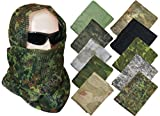 Tactical Camo Pattern MILITARY NETTING SCARF - Army Style Scrim Net Patrol Head Wraps with Camouflage Option