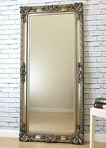 Paris silver antique baroque rococo carved louis style for Baroque leaner mirror
