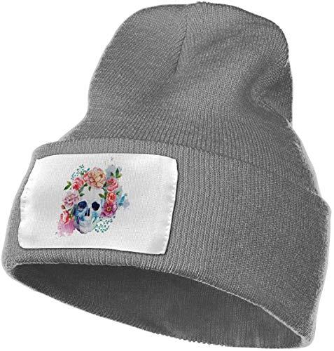 CVDGSAD Cabeza Flor Colorida Calavera Sombrero Invierno
