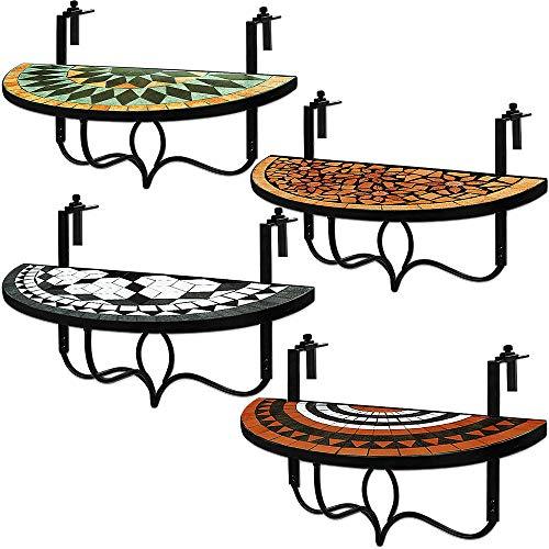 Deuba Balkontisch klappbar | Oriental | Balkonhängetisch | witterungsbeständig | Hängetisch Klapptisch Mosaiktisch Mosaik