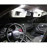 LED Innenbeleuchtung Set für dein Auto - SMD einfacher Einbau - Lichtpaket erhältlich in Farben weiß blau rot grün gelb pink | weiß