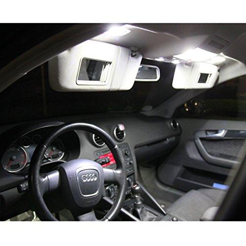 Preisvergleich Produktbild Premium LED Innenbeleuchtung Set für dein Fahrzeug - SMD Canbus plug und play - Lichtpaket erhältlich in weiß blau rot grün gelb pink | weiß