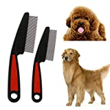 SBE Pet Dog Comb Remove Fleas Lice with Stainless Steel Hair Grooming Tool