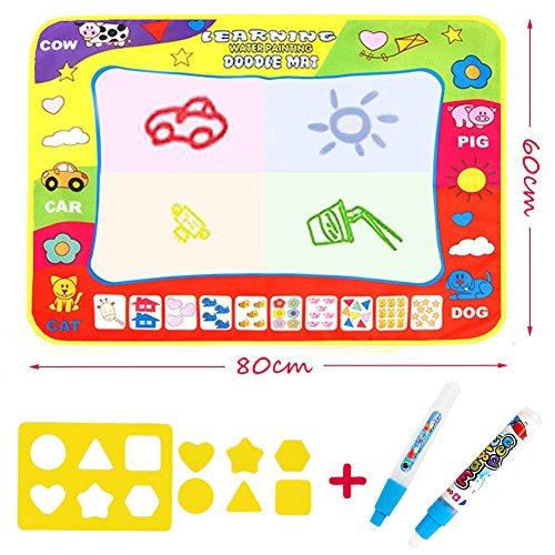 Doodle Magic Tapis De Dessins 80 x 60 CM, Maxi Tapis Arc en Ciel (4 Couleurs) VOOA