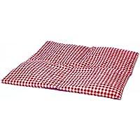 Leinsamenkissen 40x40cm 4-Kammer groß rot-weiß /Wärmekissen / Körnerkissen preisvergleich bei billige-tabletten.eu
