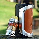 GeekVape AEGIS 100W légendaire TC Box Mod imperméable à l'eau, antichoc et étanche à la poussière - Sans Nicotine (Argent et marron (1 batterie LG HG2 3000 mAh incluse))