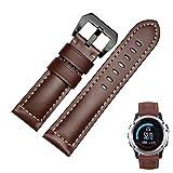 Garmin Fenix 3 / Fenix 3 HR Strap, OverDose Genuine Leather Replacement Accessory