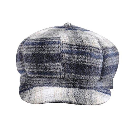 Kenmont dame d'hiver de la mode femmes filles classique huit panneau bouchon béret de chapeau gavroche nevy blau