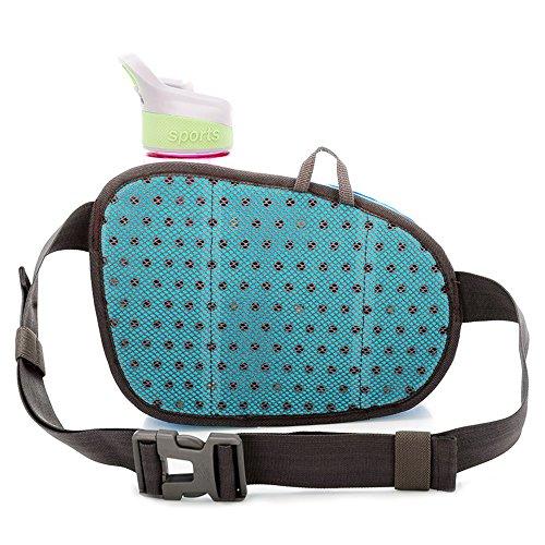 Outdoor Taille Tasche, sunhiker Sport wasserabweisend Taille Pack mit Wasser Flasche. Running Gürteltasche Tasche Fanny Pack für Hiking Running Radfahren Camping Klettern Reise. Blau