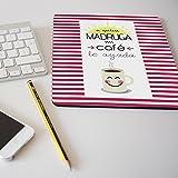 Alfombrilla para ratón regalo original diseño frase A quien madruga un café le ayuda