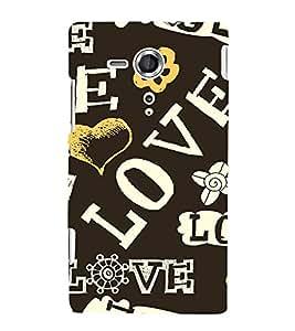 PrintVisa Designer Back Case Cover for Sony Xperia SP :: Sony Xperia SP HSPA C5302 :: Sony Xperia SP LTE C5303 :: Sony Xperia SP LTE C5306 (pyar prema heart kiss love ishq dil )