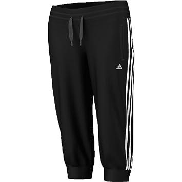 adidas 3 stripe pants. adidas women\u0027s essentials 3 stripes 3/4 trousers: adidas: amazon.co.uk: clothing stripe pants